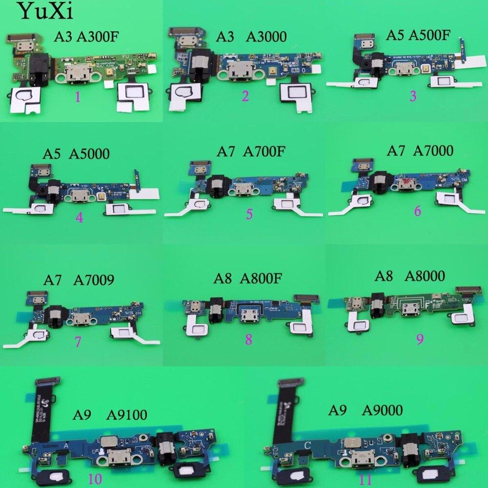 Galleria fotografica Micro USB Charging Port Board For Samsung Galaxy A3 A5 A7 A8 A9 dock Socket Headphone Jack Flex Cable A300F A500F A700F A800F