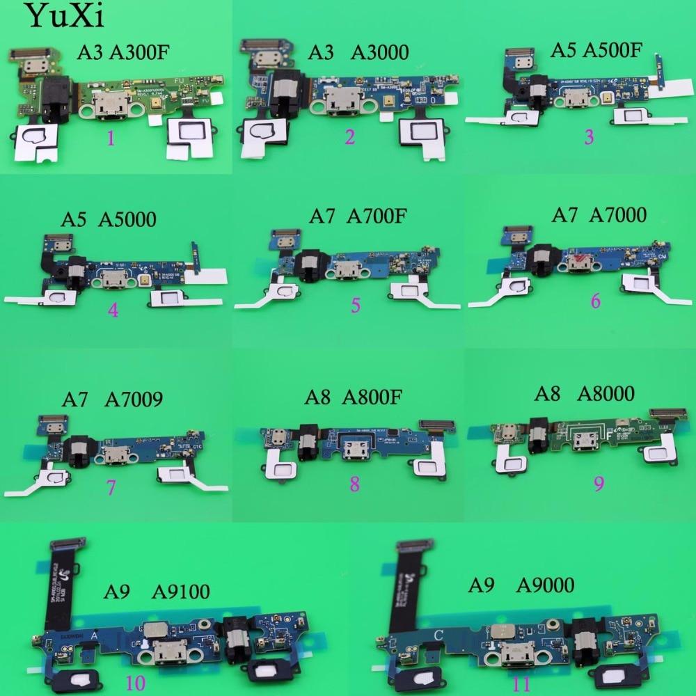 Micro USB Port de Charge Conseil Pour Samsung Galaxy A3 A5 A7 A8 A9 dock Prise Casque Jack Flex Câble A300F A500F A700F A800F