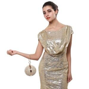 Image 5 - SEKUSA kadın İnci boncuklu akşam çanta inci boncuk el çantası el yapımı düğün çanta bej, siyah kalite güvence