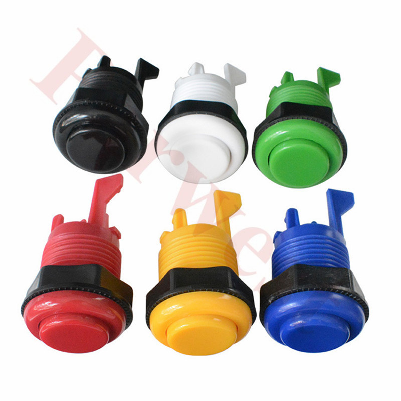 20PCS/Lot Happ Style Standard American Push Buttons(Short One) With Microswitch For Arcade Machine Mame Jamma PC Games