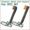 Original de carga del cargador puerto Micro USB conector Dock Flex piezas para HTC uno M7 + Mic micrófono envío gratis
