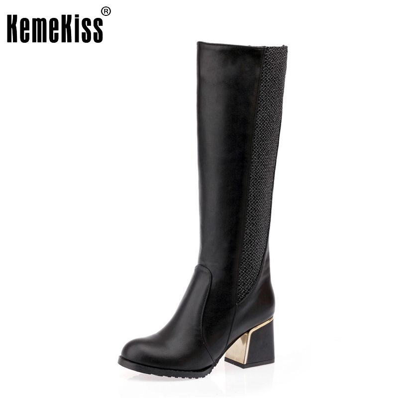 Free shipping over knee high heel boots women snow fashion winter warm shoes boot P15645 EUR
