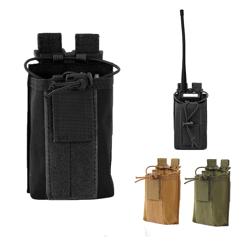 Multi-function Molle Tactical Pouch Holster 1000D Nylon Portable Walkie-talkie Bag Universal Pouch Outdoor Sports Accessory Bags