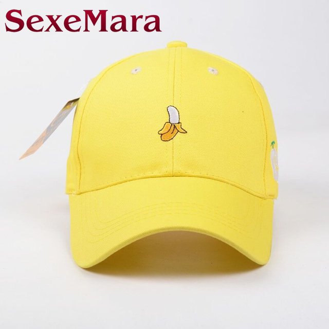 2017 New Spring Fruit Fresh Cute Lovely Color Girls Youth Baseball Cap Hat  Summer Lovely Pink Orange Yellow Caps best for beach 473dc27d605