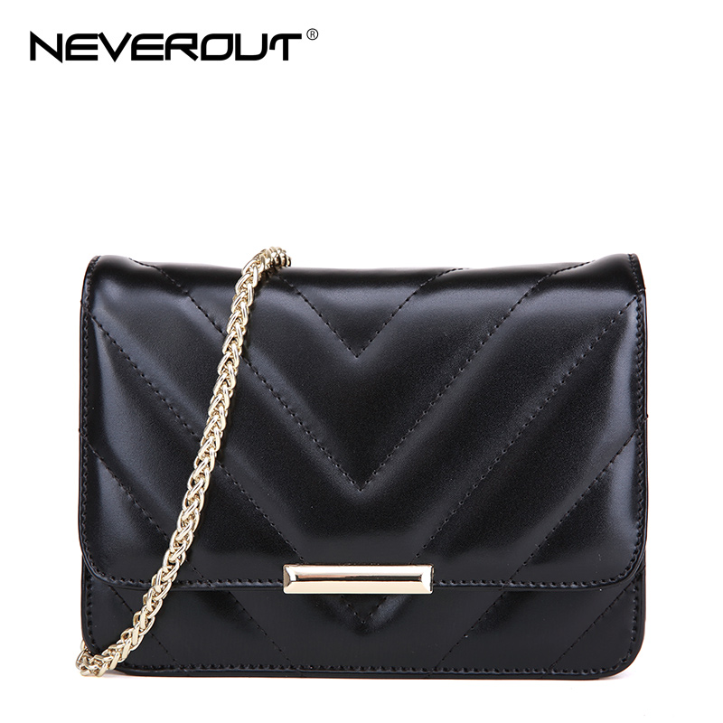 NeverOut Luxury Brand Messenger Bags Split cow Leather Small Flap Bags Solid Simple Fashion Small Chain Crossbody Bags for Women fashion matte retro women bags cow split leather bags women shoulder bag chain messenger bags
