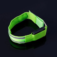 New Reflective LED Light Sport Arm Armband Strap Safety Belt For Night Running Cycling