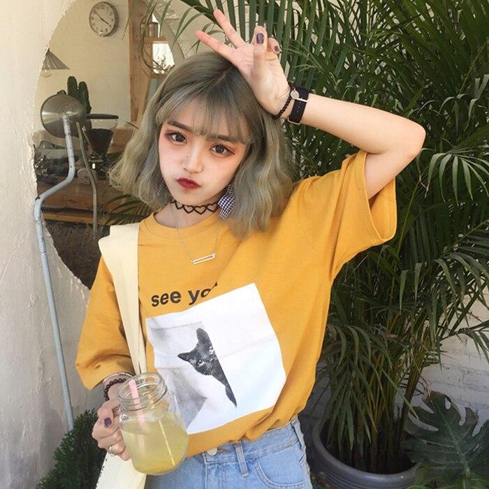 YouGeMan Tee Shirt Femme 2018 Summer Korean Style Ulzzang