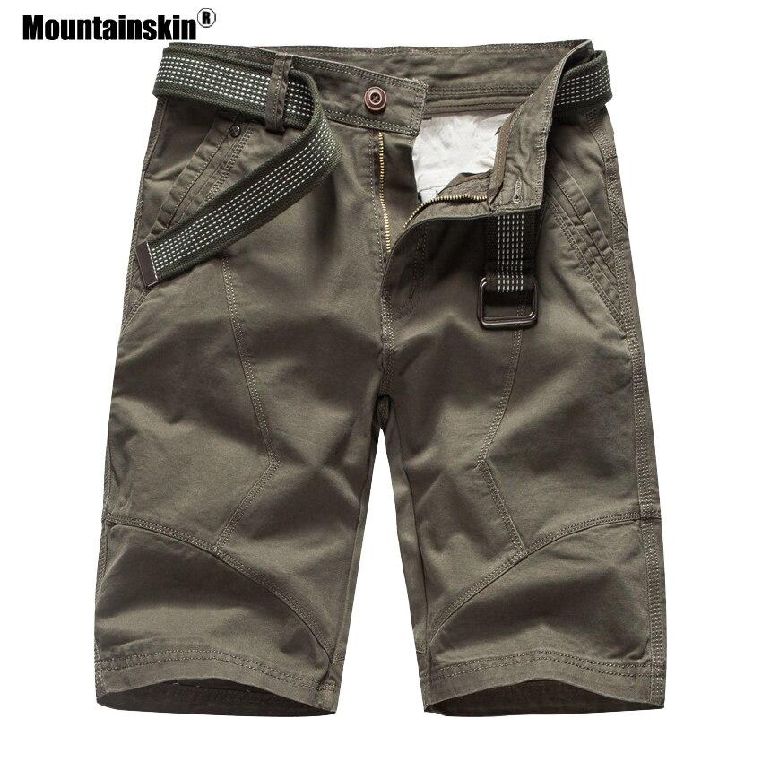 Mountainskin 2019 Summer Mens Cargo Shorts Brand Army Military Tactical Shorts Men Cotton Loose Work Casual Short Pants SA694