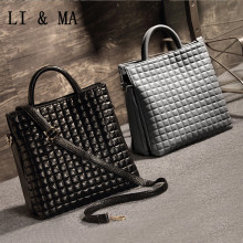 2016 Sale Free Shiipin!women New Simple Lattice Bags, Women Handbags,new All-match Tote Bag, Europe And America Shoulder Bag