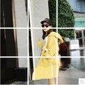 2016 Женская Мода Тренч С Капюшоном Свободные 8837 Хан Вентилятор Пальто Армия Зеленый Хаки 7523