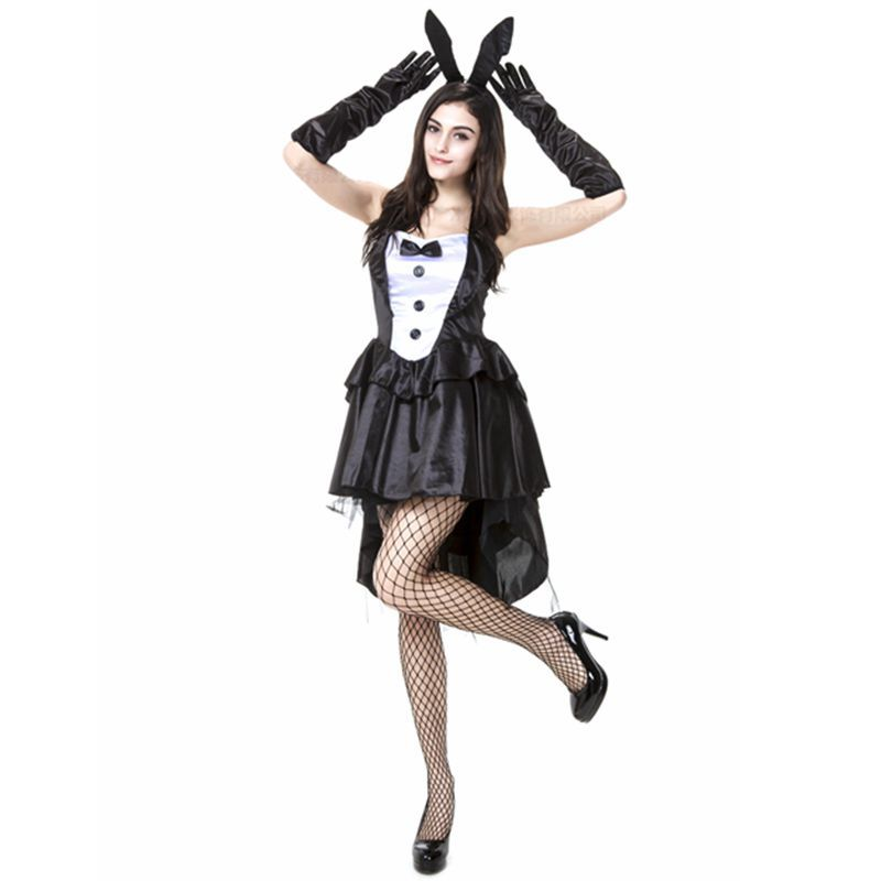 Sexy Play Boy Bunny Rabbit Halloween Costumes Plus Size Cosplay