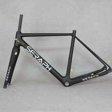 2020 זמין חצץ 700C פחמן אופני מסגרת, שרף אופני ציר 142mm חצץ Di2 פחמן Cyclocross מסגרת דיסק חדש מסגרת