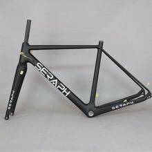 2020 Available Gravel 700C Carbon Bike Frame,SERAPH bikes Thru Axle 142mm Gravel Di2 Carbon Cyclocross Frame Disc new frame