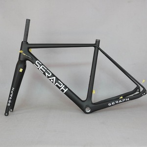 Image 1 - Cuadro de bicicleta de carbono 2020 grava 700C disponible, SERAPH bikes Thru Axle 142mm grava Di2 cuadro de ciclocross disco de carbono nuevo marco