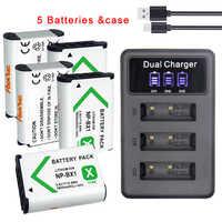 NP-BX1 NPBX1 NP BX1 Batterie et 3LED chargeur pour sony alpha WX350 RX100 FDR-X3000 AS100V HX400 HX60 GWP88 HDR-AS300R DSC RX1 Caméra