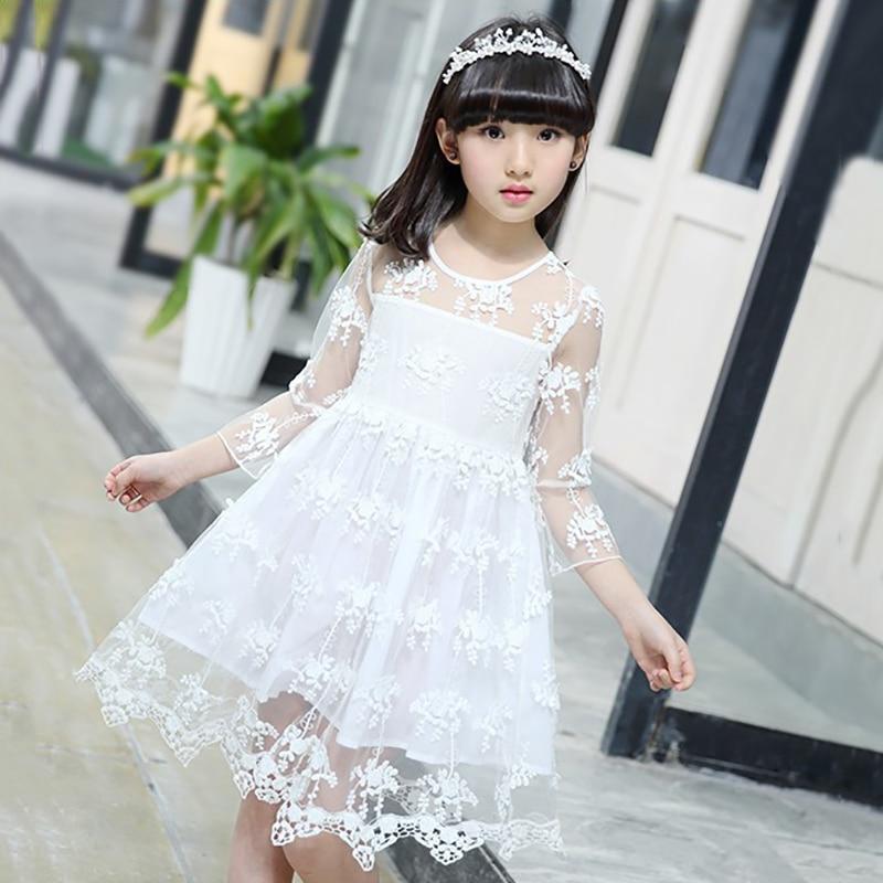 Kids Dresses For Girls Summer Lace Flower Princess Dress