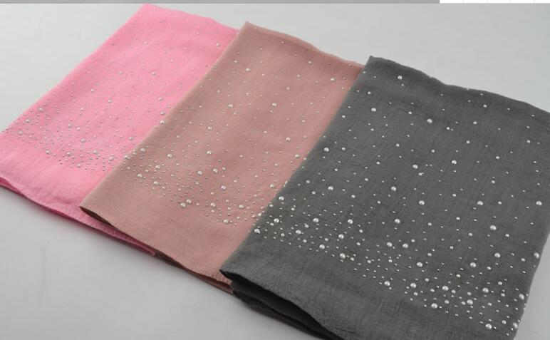 B7 High quality bead women scarf scarves hijab wrap shawls 10pcs 1lot 180*70cm can choose colors