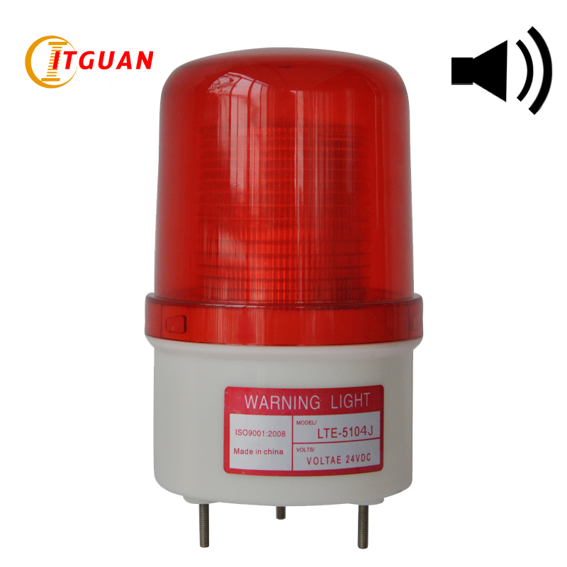 LTE-5104J Industrial LED Warning Light Flash Strobe Lights With 90dB Buzzer Alarm Light Beacon Emergency Lamp 12V 24V 110V lte 5071j led strobe warning light alarm dc12v 24v ac220v signal emergency lamp with buzzer sound 90db beacon light
