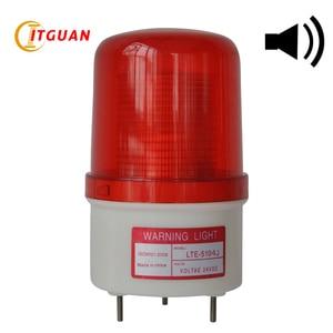 Luz de advertencia LED estroboscópico de 90dB, lámpara de emergencia, baliza, 12V, 24V, 110V, Industrial, LTE-5104J