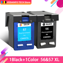 QSYRAINBOW  ink cartridge replacement for HP 56 57 XL Deskjet 5150 450CI 5550 5650 7760 9650 PSC 1315 1350 2110 2210