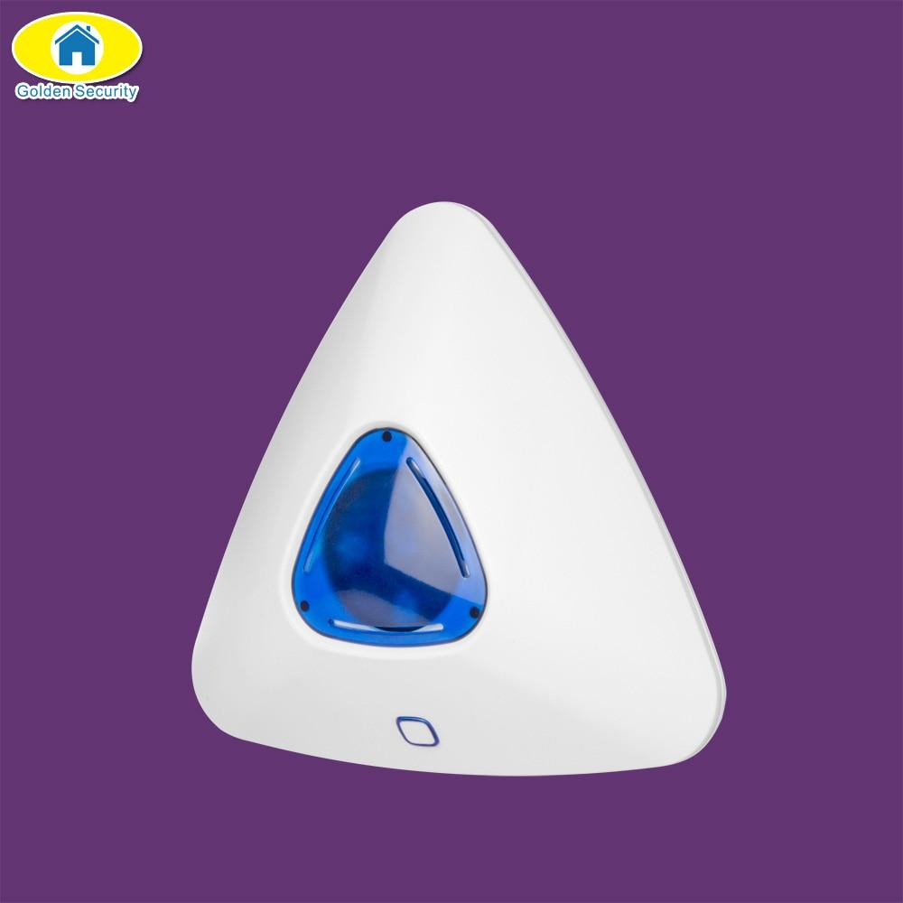 все цены на Golden Security Alarm Wireless Strobe Siren Flashing Siren Light Strobe Siren 433 MHz for G90B Plus WiFi GSM Alarm System