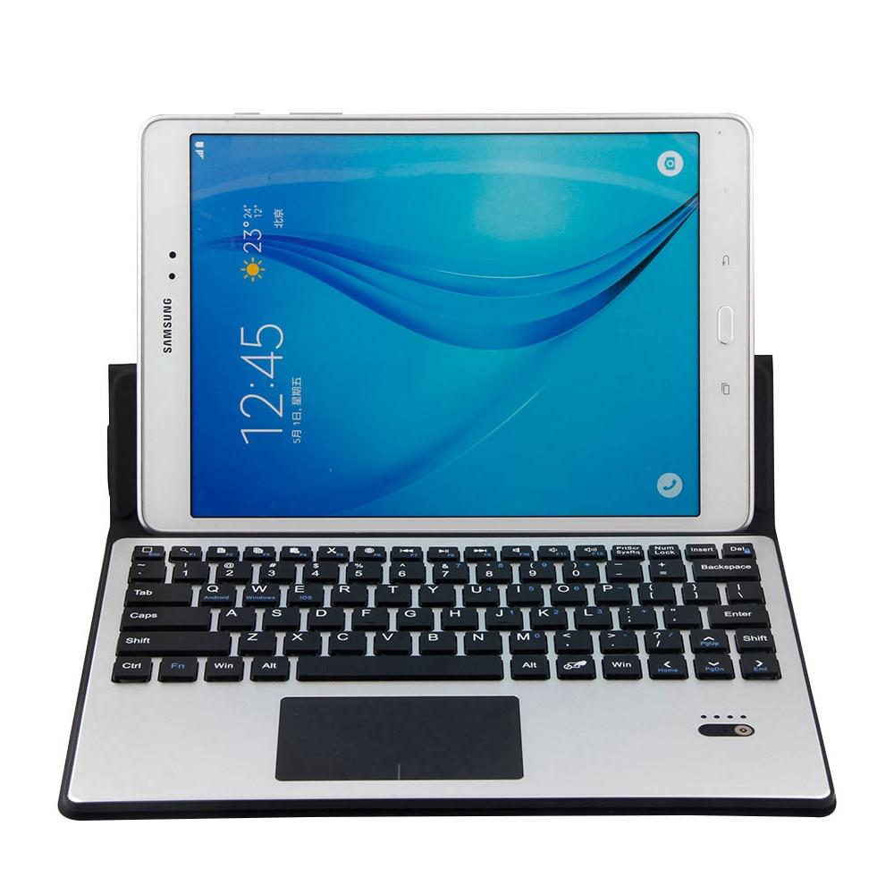 Pour Samsung Galaxy Tab S5e 10.5 T720 T725 amovible en aluminium Bluetooth Touchpad clavier russe + étui mince en cuir PU - 2