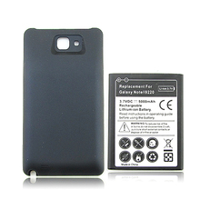 High Capacity 3.7V 5000mAh Mobile Phone Replacement Battery For Samsung Galaxy Note N7000 i9220 GT-N7000 Battery with Back Cover replacement 3 7v 2600mah battery w charging cradle eu plug adapter for samsung galaxy note i9220