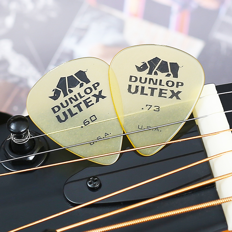 Купить с кэшбэком 1 pc Dunlop Ultex Standard Guitar Picks Plectrum Mediator 0.6mm/0.73mm/1.0mm/1.14mm Bass Mediator Acoustic Electric Guitar Picks