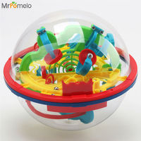 100 Steps Balance Logic Ability Puzzle Game 3D Magic Intellect Maze Ball For Children Toys Educational