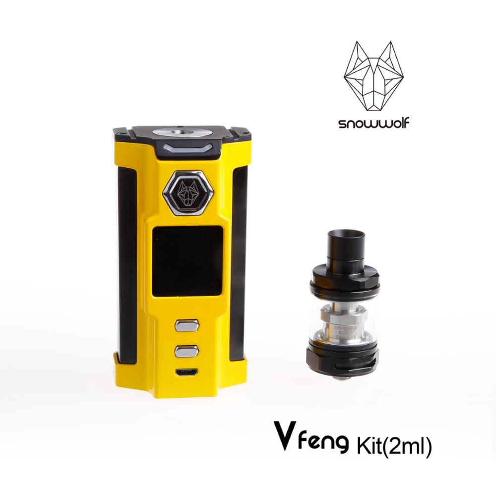 2pcs/lot Snowwolf Vfeng electronic cigarette kit 230W cool handle starter e cigarette with atomizer e-cigarettes vape mod box original yuntwo ice fresh cool orange vape juice for e cigarette