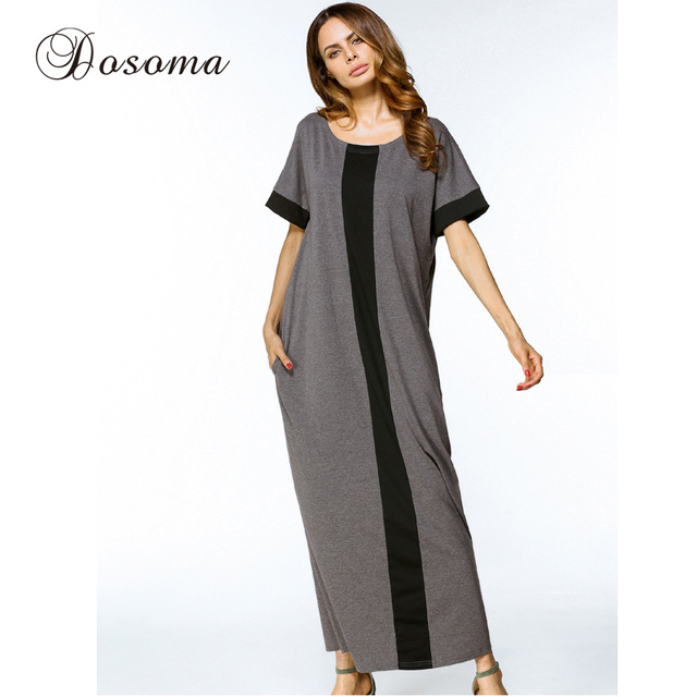 baf4591230 Casual Muslim Cotton Abaya Maxi Dress Women Long Robe Loose Kimono Summer  Moroccan Burka Kaftan Hijab Islamic Middle East Arab