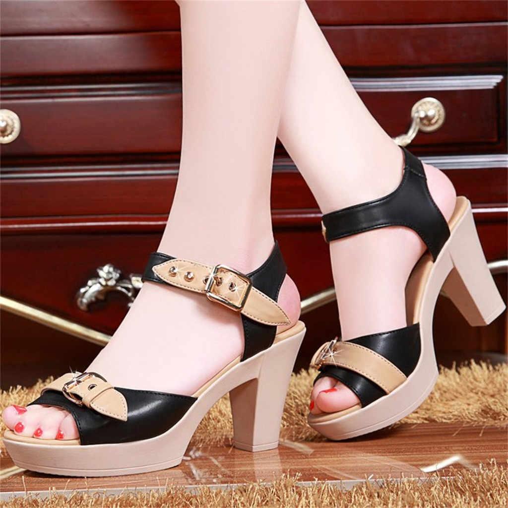 Обувь; женские босоножки на высоком каблуке; повседневная обувь на плоской подошве; Летние босоножки для женщин; коллекция 2019 года; Летняя обувь; натуральная платформа