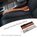 Preto marrom bege Assento de Carro Fenda Lacuna Rolha soft PU de Couro Protetor de assento de carro cobre de alta qualidade À Prova de Fugas