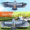 Бесплатная доставка Высокое качество 3 6 м большой орел кайт линия kevalr Открытый летающие игрушки для взрослых Рипстоп нейлоновые змеи катуш...