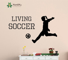 цена на Removable Sports Wall Decal Vinyl Decal Sticker Girl Living Soccer Home Decor Wall Sticker Bedroom Girls Football Mural NY-29