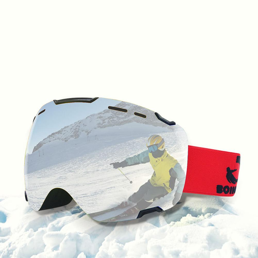 New Ski Goggles Double Layers Curved Lens Anti-UV Anti-fog Big Ski Mask Glasses Skiing Men Snow Snowboard Goggles Ski Glasses nandn unisex ski goggles double uv anti fog big ski mask glasses women men skiing snow snowboard goggles multifunction eyewear