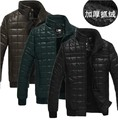 Free shipping !!! Senior men collar casual fashion pu washed leather motorcycle thick warm jacket in winter M-3XL