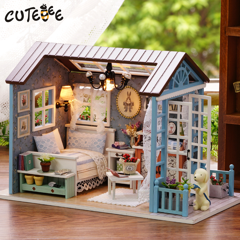 CUTEBEE-Doll-House-Miniature-DIY-Dollhouse-With-Furnitures-Wooden-House-Toys-For-Children-Birthday-Gift-Z007-1