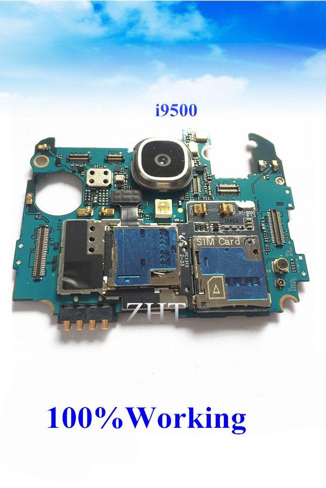 Idioma internacional desbloqueado Original placa base para GALAXY S4 i9500 placa base limpia IMEI interruptor