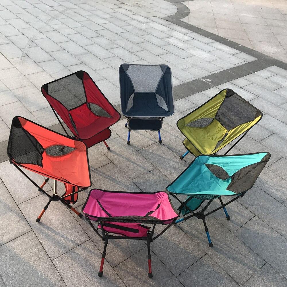 2018 nouveauté lune métal chaises de plage rouge bleu Orange bleu ciel bleu 4 couleur charge 150 KG seulement 1 kg 800D Oxford Coth 7075 aluminium