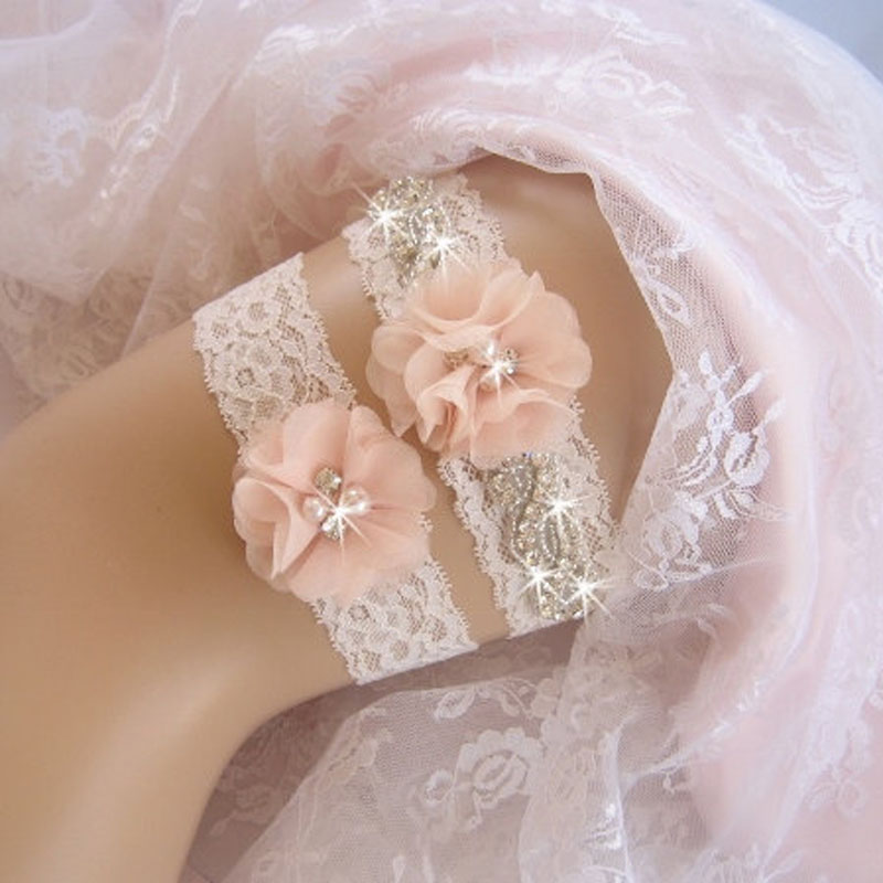 Why Two Garters For Wedding: Wholesalre 2pcs/Set Bridal Garters LILIC Keepsake Toss