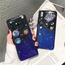 glitter space planet tpu case For huawei mate 20 lite pro P20 P30 honor 10 cover fashion soft silicon phone bag