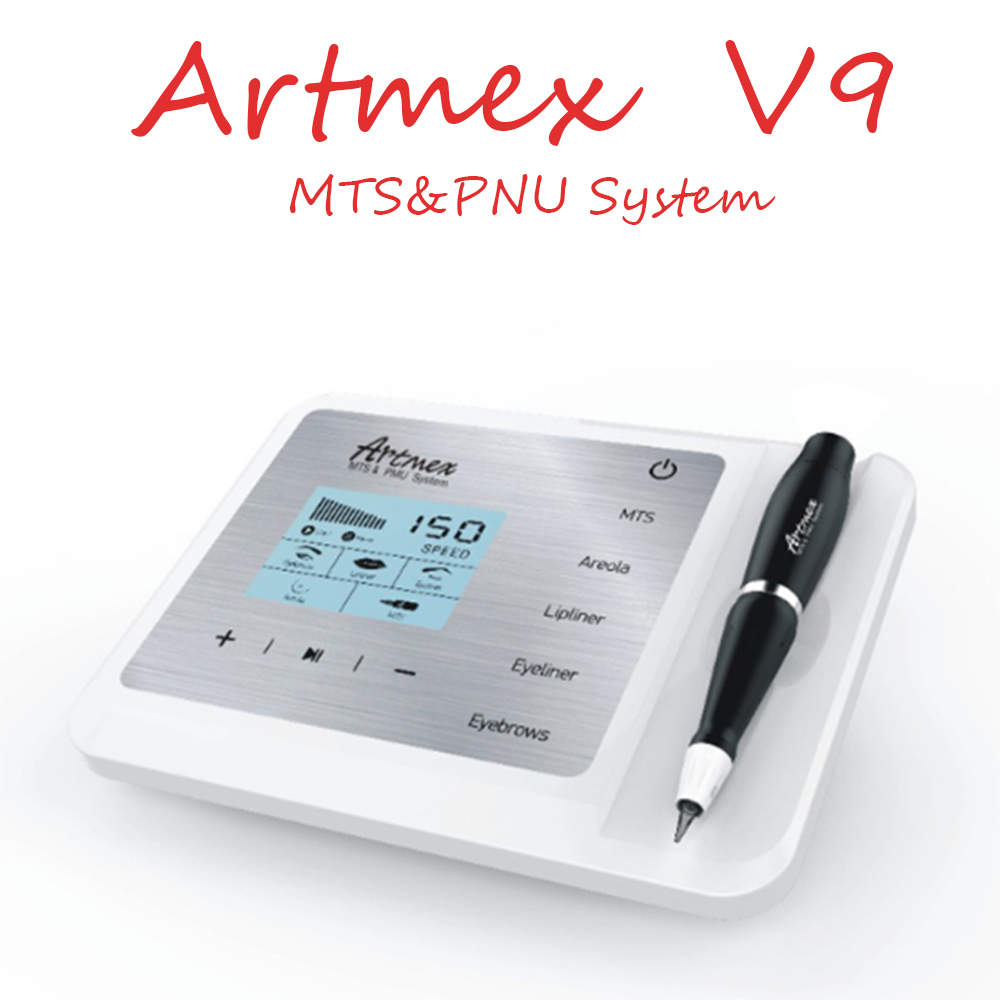 Artmex V9 Permanent Makeup Tattoo Machine Eye Brow Lip Rotary Pen V6 MTS PMU System