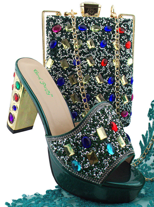 Italian Design Shoes With Matching Bag New African Shoes and Bags For Party Fashion Smooth Material Shoes and Bag Set MD002 italian shoes with matching bag new design african pumps shoe heels fashion shoes and bag set to matching for party gf25