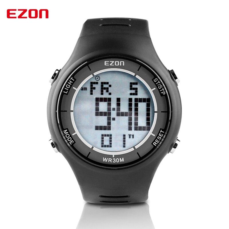 EZON Men Women Sport Digital Watches montre Waterproof  LED Dual Time Stopwatch Outdoor Military Sport Watch reloj hombre L008