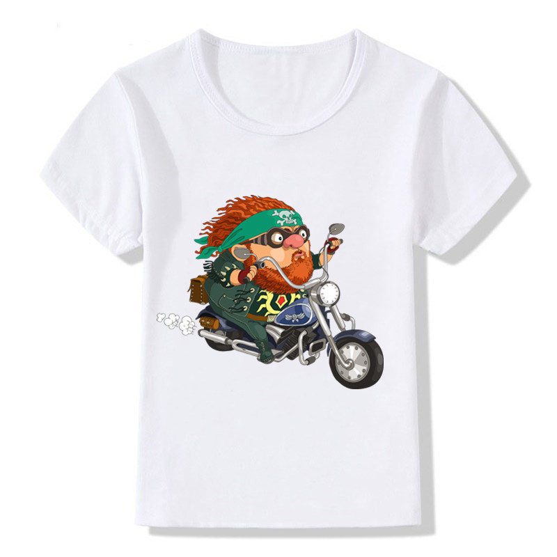 Cool Harley Motorcycle T-Shirts Short Sleeve Tops Toddler Boy T-shirt for 1-12Y Tees