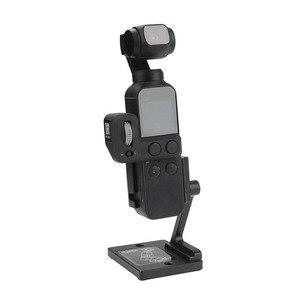 Image 1 - Desktop base stabilizer Aluminum holder Adjustable angle for dji osmo Pocket 2 gimbal camera Accessories