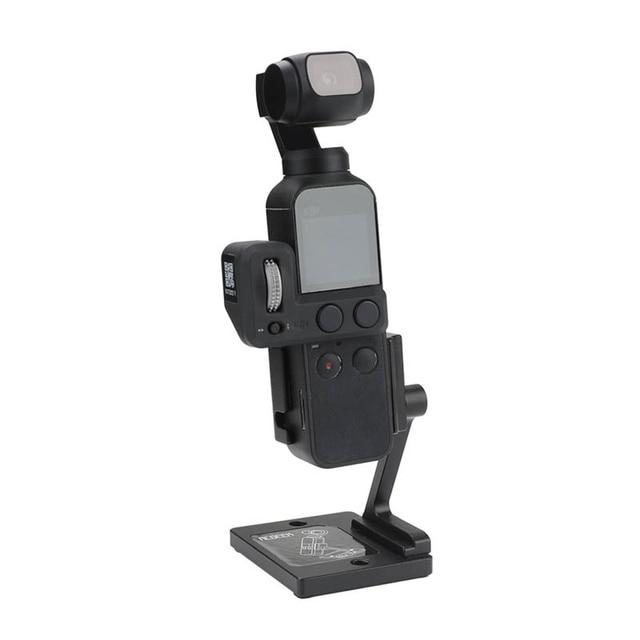 Estabilizador de base de escritorio, soporte de aluminio, ángulo ajustable para dji osmo Pocket 2, accesorios de cámara de cardán
