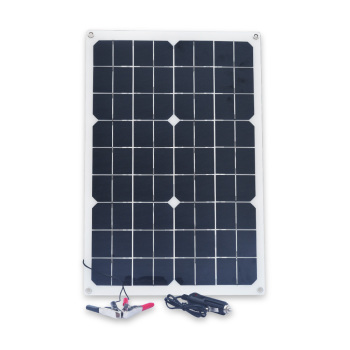 20W 12V Solar Panel Double USB Power Bank Board External Battery Charging Solar Cell Board Crocodile Clips Car charger 1