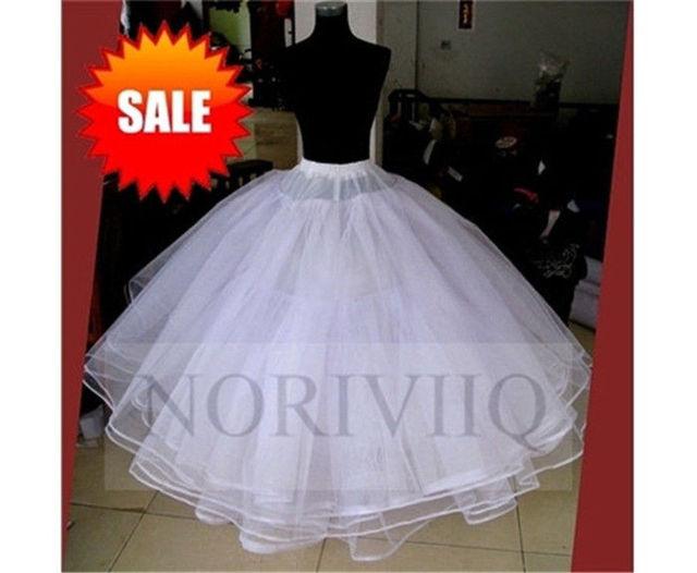 NORIVIIQ Blanco Petticoat No Hoop 6 Capas de Crinolina Enagua Slip En Línea Tienda Al Por Mayor de 03